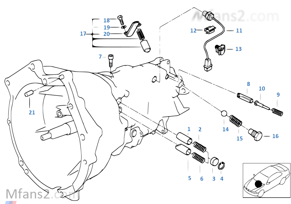S6s420g inner gear shifting parts