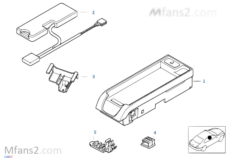 Single parts, SA 632, center console