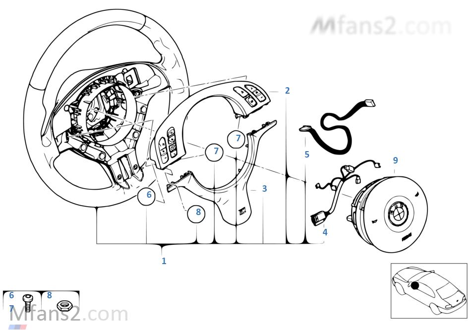 M sports strng whl, airb.-smart, multifunc