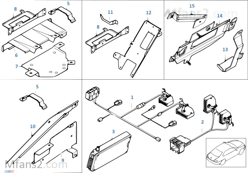 Single parts f Apollo luggage compartm.