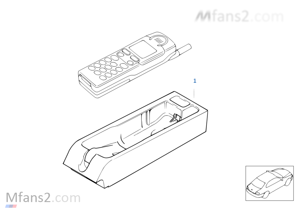 Single parts SiemensS10 centre console