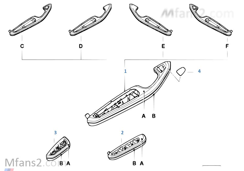 個性化扶手 前部和後部