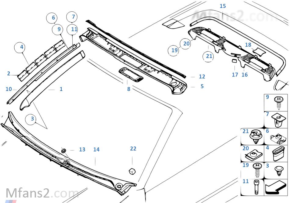 Interior body trim panel