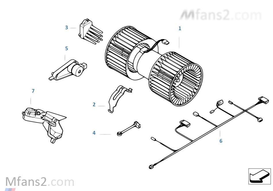 Electric parts for ac unit