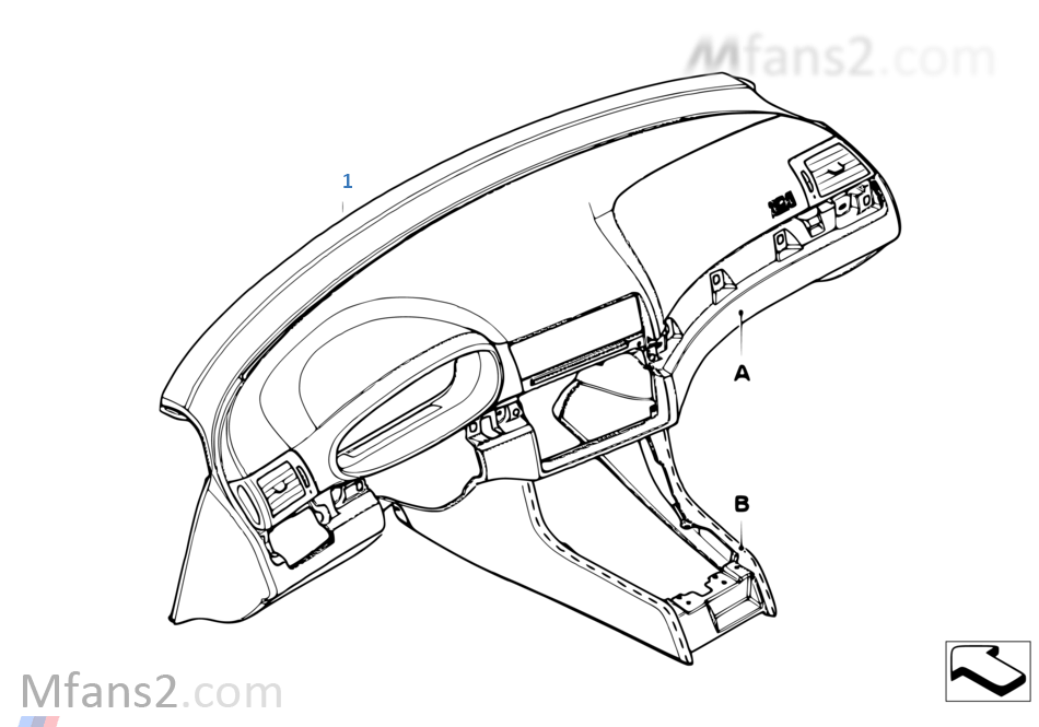 Individual instrument panel, leather
