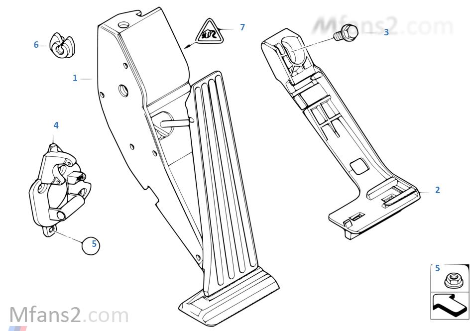 Azionam.acceleratore/modulo pedale accel