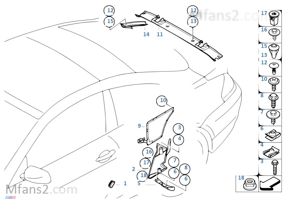 E63 M6 Exploded Diagram