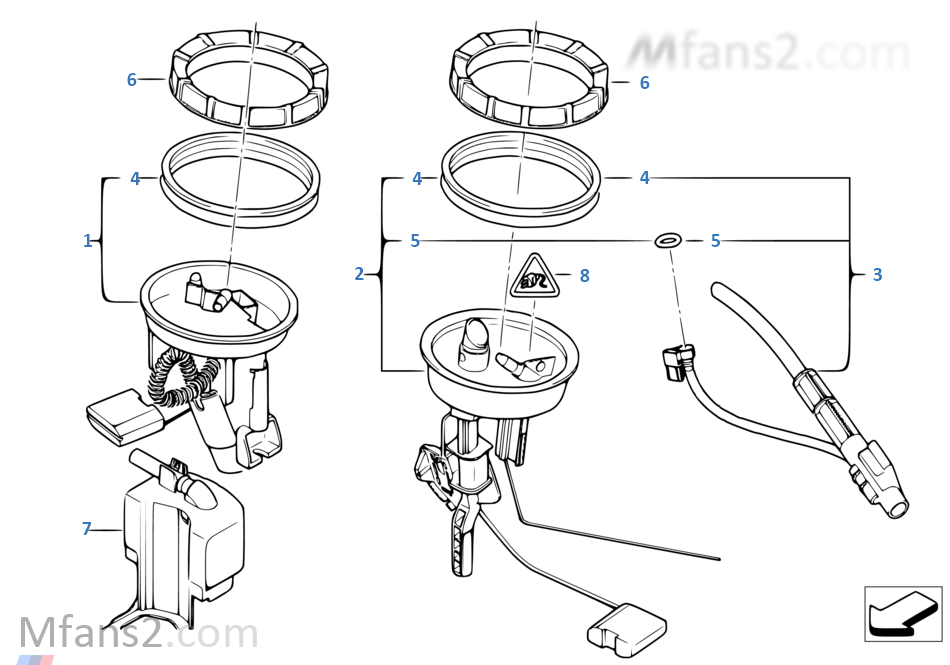 Pompa carburante / Sensor del livello