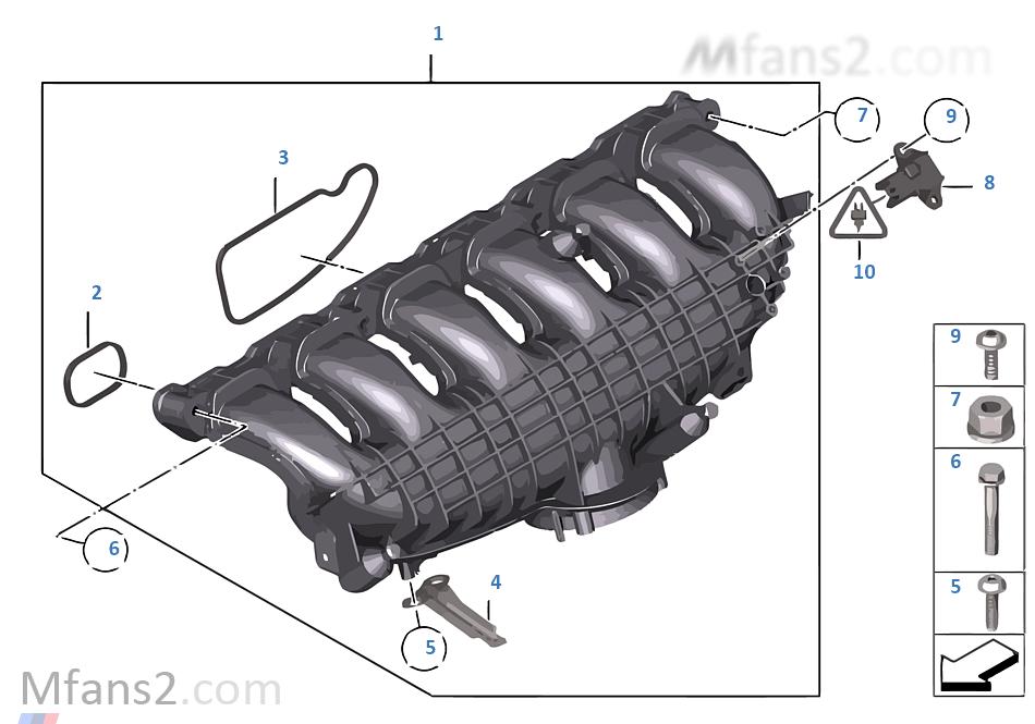 Intake Manifold System Bmw 1 F21 M135ix N55 Europe