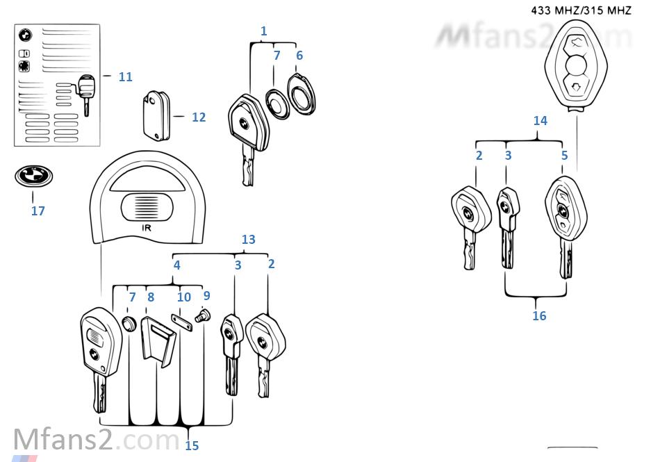 Schlüssel mit Akku (ab 09/99)