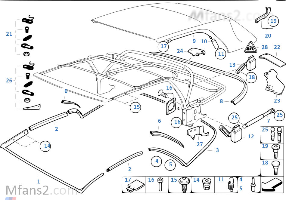 折疊式軟頂 安裝件