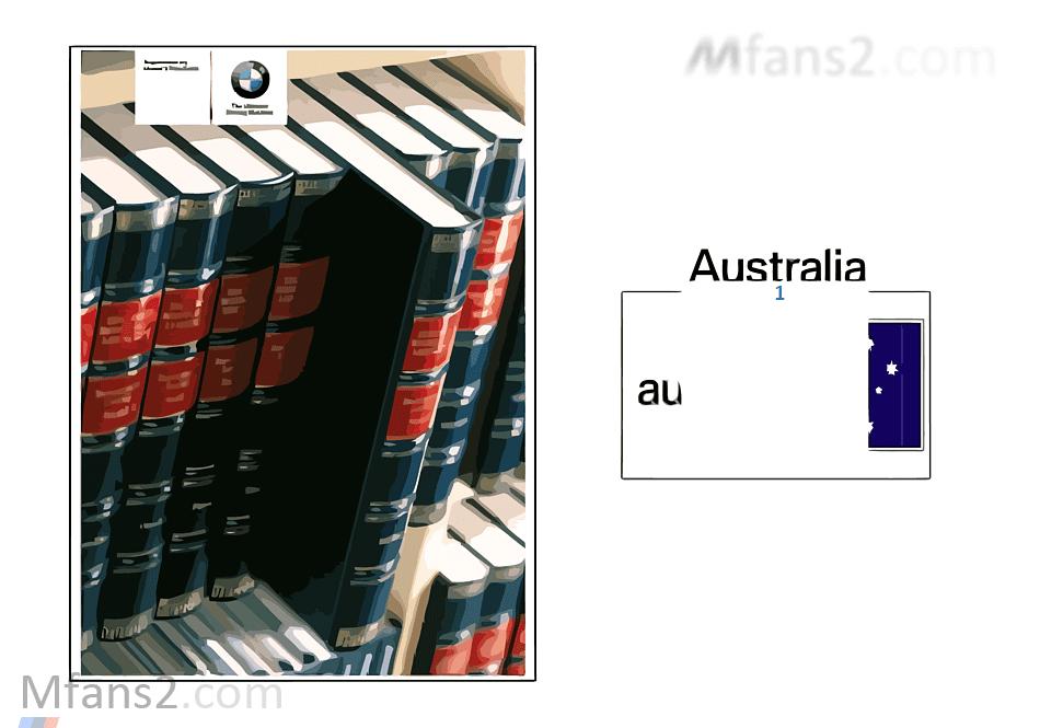 Supplem. to owner's manual, Australia