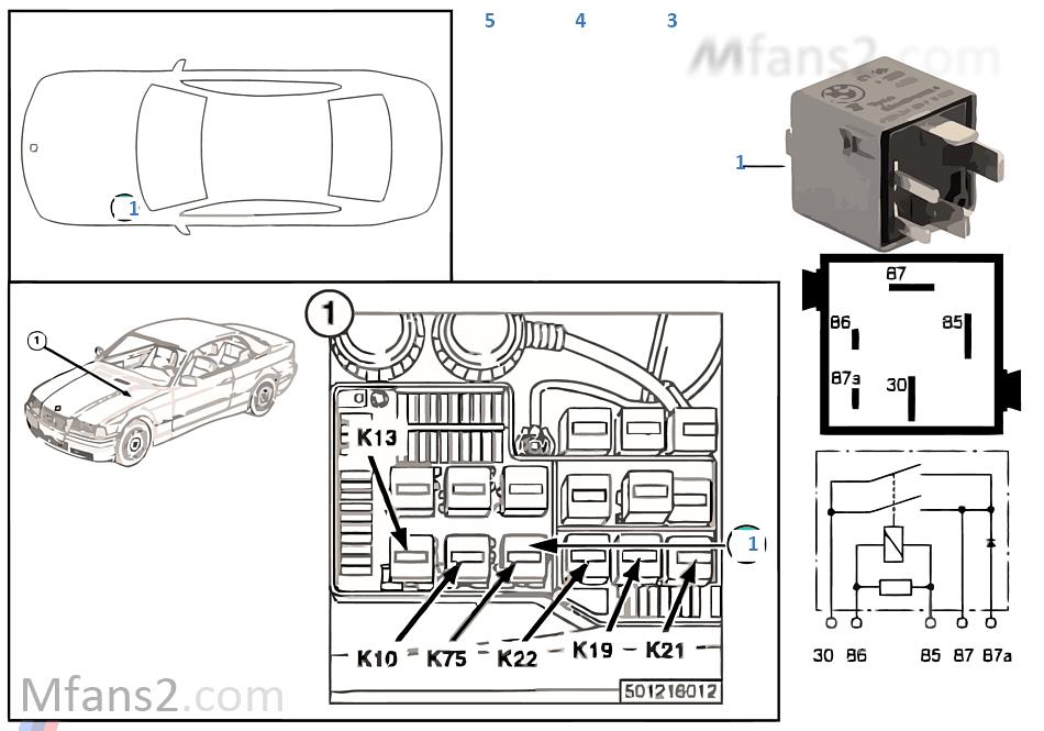 relais abs pumpenmotor k75 bmw 3 39 e36 m3 s50 europa. Black Bedroom Furniture Sets. Home Design Ideas