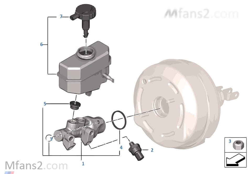 Brake master cylinder DSC