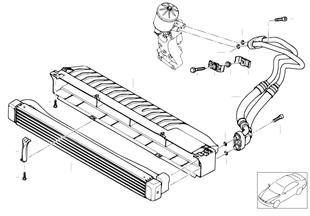 Radiatore olio motore