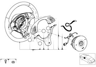 Volant sport M airbag-smart multifonct.