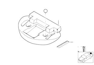 Cuvette de dépôt de kit de dépannage
