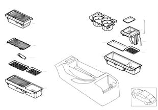 Pièces de montage de vide-poches