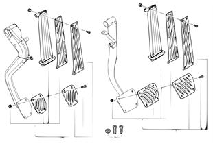 Pedalauflagen Aluminium