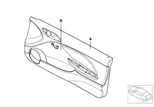 Revêtement de porte av airbag indiv.