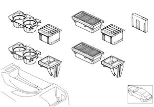 Getränkehalter/Cassettenbox/Münzbox