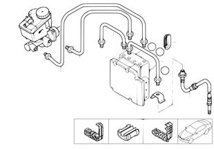 Brzdové potrubí přední dyn.kontr.stabil.