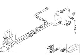 Brzdové potrubí zadní dyn. kontr. stab.