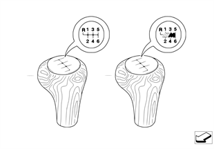 Individual wood gear shift knobs 6-speed
