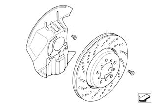 Brzda př. kola-brzdový kotouč děrovaný