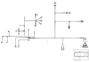 Жгут проводов двигатель/модуль КПП