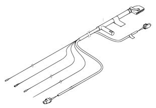 Repair cable for rollover sensor