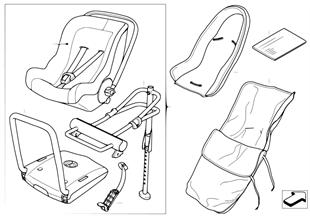 Детское сиденье BMW Baby Seat 0+ Isofix
