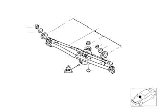 Windshield wiper system, LHD