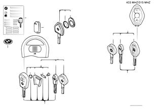Ключ с аккумулятором (с 09/1999)