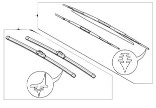 Set, wiper blades flat/articulated blade