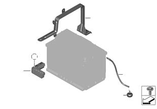 배터리홀더와 설치부품