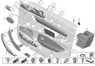 설치부품, 도어 트림패널, 앞