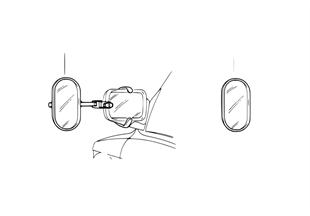 Наружное зеркало для движения с прицепом