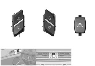 스위치, 비상등/센트럴 로킹 시스템