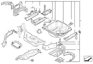 Дополнит.элементы пола багажника