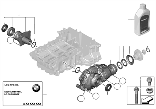 앞차축 디퍼렌셜, 4륜구동장치 개별 부품