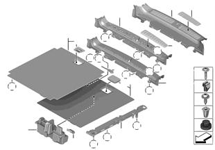 트림 패널,트렁크룸 바닥