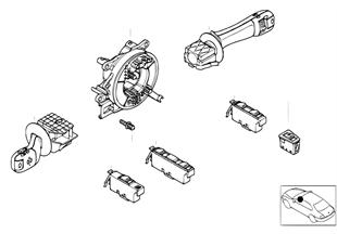 Steering-column stalk/ window lifter