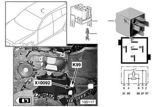 Relay, heated rear window, Hardtop, K99