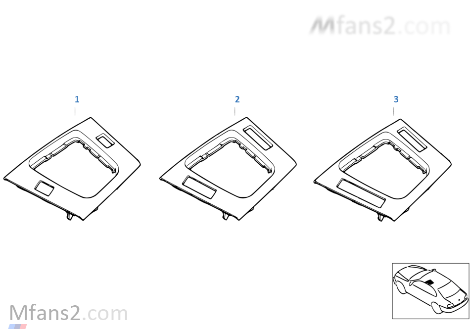 Individual floor oddments tray, primed